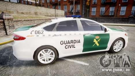 Ford Mondeo 2014 Guardia Civil Cops [ELS] für GTA 4 linke Ansicht