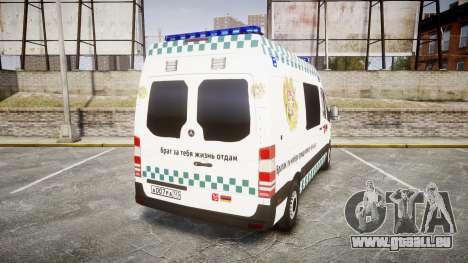 Mercedes-Benz Sprinter ARM Ambulance [ELS] pour GTA 4 Vue arrière de la gauche