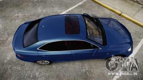 Lexus IS 350 F-Sport 2014 Rims1 für GTA 4 rechte Ansicht