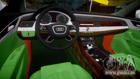 Audi A8 Limousine für GTA 4 Innenansicht