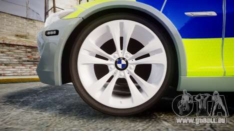 BMW 530d F11 Metropolitan Police [ELS] pour GTA 4 Vue arrière
