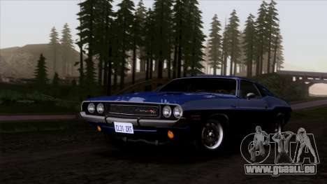 Dodge Challenger 426 Hemi (JS23) 1970 (HQLM) für GTA San Andreas Rückansicht