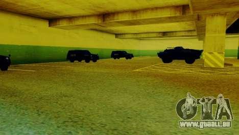 De nouveaux véhicules dans le LVPD pour GTA San Andreas deuxième écran