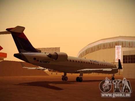 Bombardier CRJ-700 Delta Connection pour GTA San Andreas vue de droite