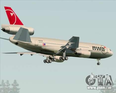 McDonnell Douglas DC-10-30 Northwest Airlines für GTA San Andreas rechten Ansicht