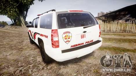 Chevrolet Suburban 2008 Police [ELS] Red & Blue pour GTA 4 Vue arrière de la gauche