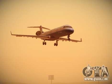 Bombardier CRJ-700 United Express für GTA San Andreas linke Ansicht