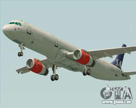 Airbus A321-200 Scandinavian Airlines System pour GTA San Andreas laissé vue