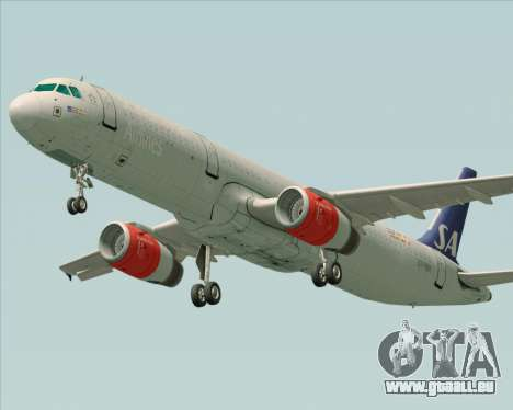 Airbus A321-200 Scandinavian Airlines System für GTA San Andreas linke Ansicht