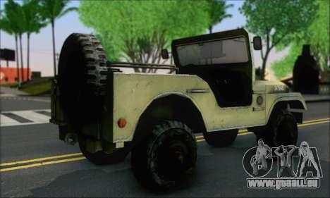 Jeep From The Bureau XCOM Declassified pour GTA San Andreas laissé vue