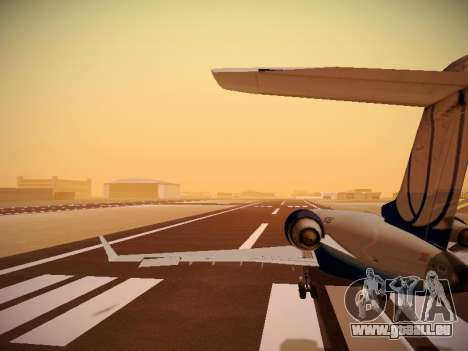Bombardier CRJ-700 United Express pour GTA San Andreas roue
