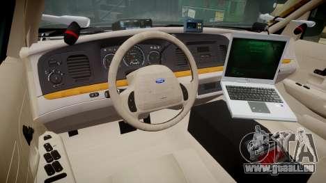 Ford Crown Victoria LASD [ELS] Marked pour GTA 4 Vue arrière