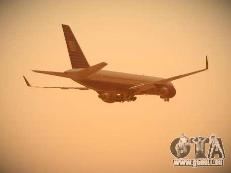 Boeing 757-224 United Airlines für GTA San Andreas Seitenansicht