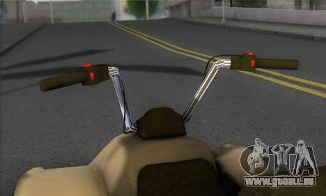 New Quad pour GTA San Andreas sur la vue arrière gauche