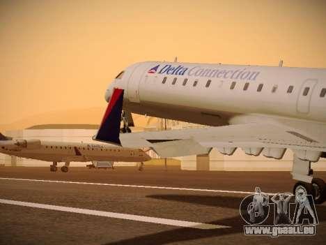 Bombardier CRJ-700 Delta Connection für GTA San Andreas Innen