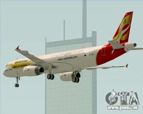 Airbus A321-200 Qantas (Wallabies Livery) für GTA San Andreas Räder