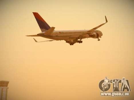 Boeing 757-232 Delta Airlines pour GTA San Andreas vue de dessous
