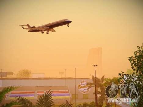 Bombardier CRJ-700 United Express pour GTA San Andreas vue intérieure
