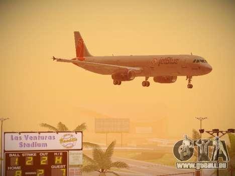 Airbus A321-232 jetBlue Boston Red Sox für GTA San Andreas obere Ansicht