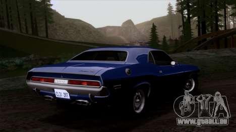Dodge Challenger 426 Hemi (JS23) 1970 (HQLM) für GTA San Andreas Innenansicht