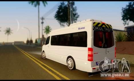 Mercedes-Benz Sprinter Bus Scolaire pour GTA San Andreas laissé vue
