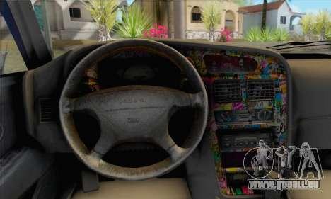 Proton Wira Slammed pour GTA San Andreas sur la vue arrière gauche