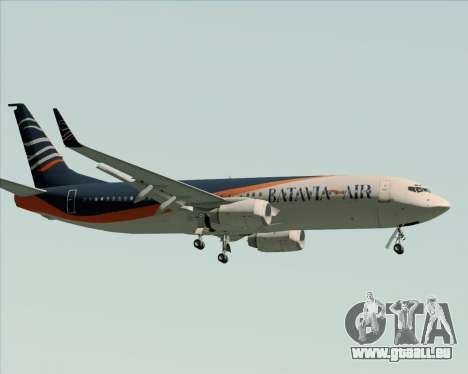 Boeing 737-800 Batavia Air (New Livery) für GTA San Andreas Rückansicht