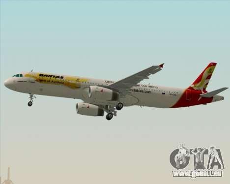 Airbus A321-200 Qantas (Wallabies Livery) pour GTA San Andreas moteur