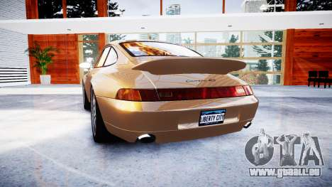 Porsche 911 Carrera RS 993 1995 für GTA 4 hinten links Ansicht