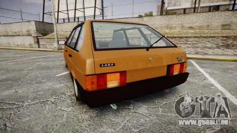 VAZ-2109 1500 i für GTA 4 hinten links Ansicht