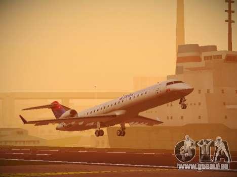 Bombardier CRJ-700 Delta Connection für GTA San Andreas linke Ansicht