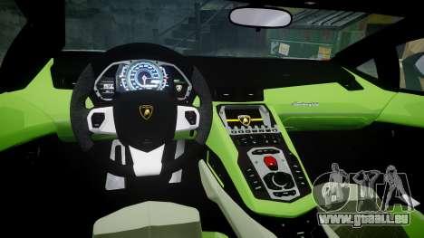 Lamborghini Aventador 50th Anniversary Roadster pour GTA 4 est une vue de l'intérieur