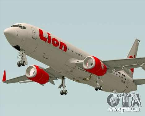 Boeing 737-800 Lion Air pour GTA San Andreas vue de droite