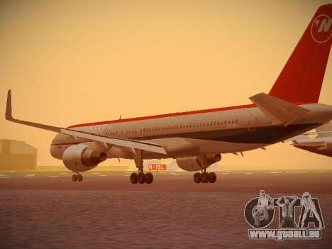 Boeing 757-251 Northwest Airlines für GTA San Andreas zurück linke Ansicht