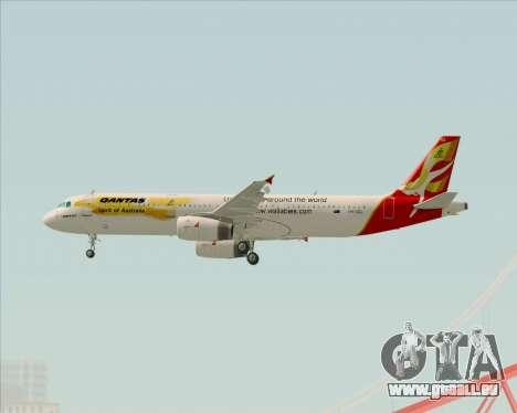 Airbus A321-200 Qantas (Wallabies Livery) pour GTA San Andreas vue de droite