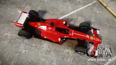 Ferrari F138 v2.0 [RIV] Alonso TFW für GTA 4 rechte Ansicht