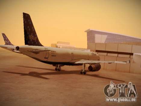 Airbus A321-232 Lets talk about Blue für GTA San Andreas rechten Ansicht
