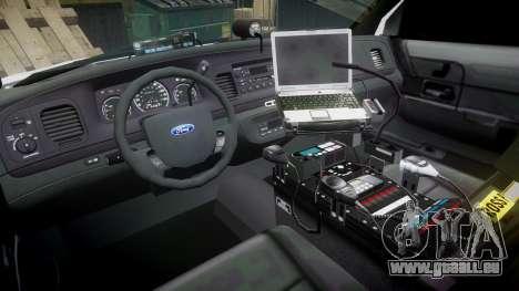 Ford Crown Victoria Unmarked Police [ELS] für GTA 4 Rückansicht