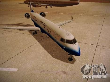 Bombardier CRJ-700 United Express pour GTA San Andreas vue arrière