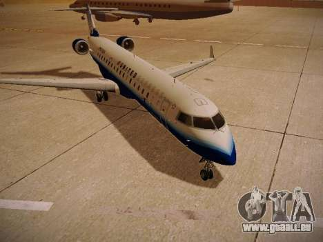 Bombardier CRJ-700 United Express für GTA San Andreas Rückansicht