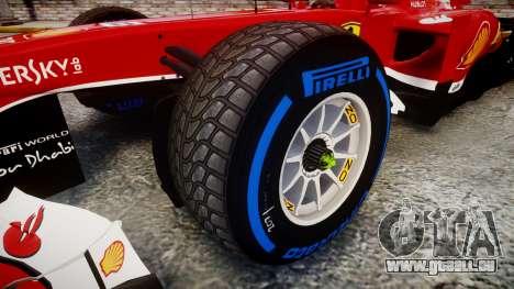 Ferrari F138 v2.0 [RIV] Alonso TFW pour GTA 4 Vue arrière