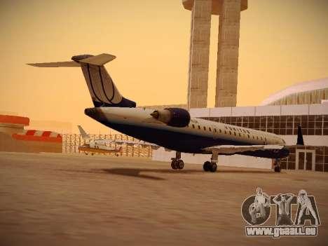 Bombardier CRJ-700 United Express pour GTA San Andreas sur la vue arrière gauche