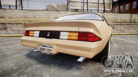 Chevrolet Camaro Z28 1979 pour GTA 4 Vue arrière de la gauche