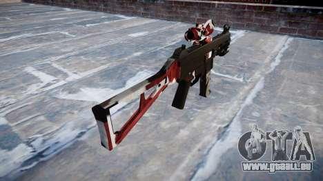 Gun UMP45 sind blutunterlaufen für GTA 4 Sekunden Bildschirm