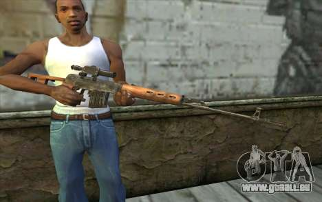 СВД (Battlefield: Vietnam) pour GTA San Andreas troisième écran