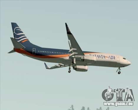 Boeing 737-800 Batavia Air (New Livery) für GTA San Andreas obere Ansicht