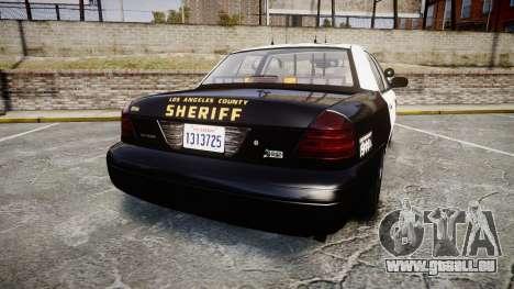 Ford Crown Victoria LASD [ELS] Slicktop für GTA 4 hinten links Ansicht