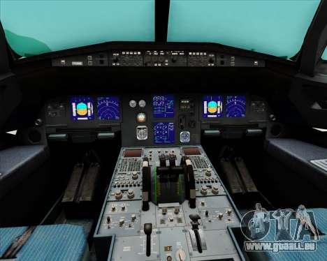 Airbus A321-200 Qantas (Wallabies Livery) für GTA San Andreas Innen