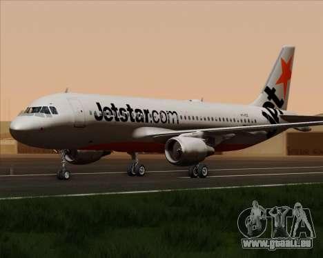 Airbus A320-200 Jetstar Airways pour GTA San Andreas vue arrière