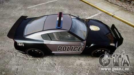 GTA V Annis Elegy RH8 Police [ELS] für GTA 4 rechte Ansicht